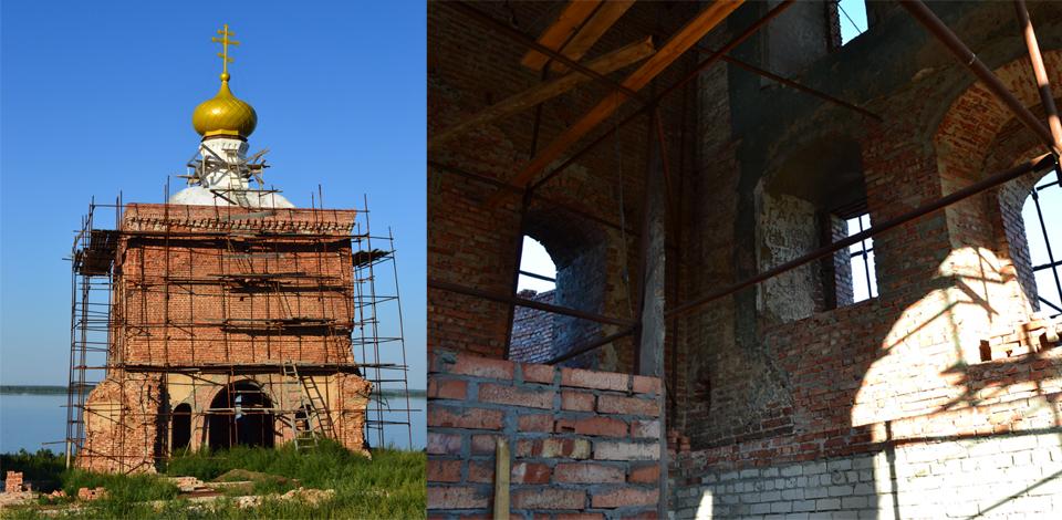 Восстановление монастыря